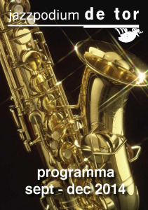 140719 - Programmaboekje Jazzpodium de Tor sept-dec 2014-interactief_Pagina_1